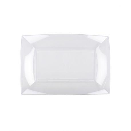 8 plats en polypropylène transparent idéal pour la présentation de vos divers plats, foie gras, saumons, apéritif... Dimensions : 28cm x...