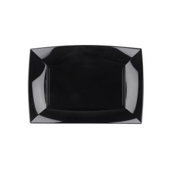 8 Plats noir 28cm