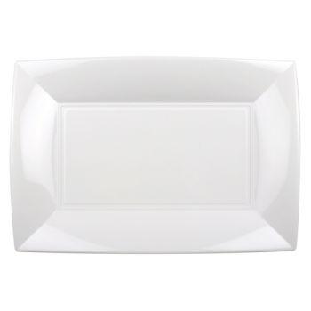 3 Plats blanc 34cm