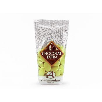 Dragées chocolat brillant vert lime 250gr
