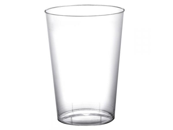 gobelets en plastique rigide de couleur transparente