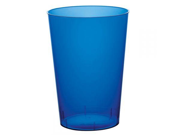 gobelets en plastique rigide de couleur bleu