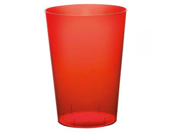 gobelets en plastique rigide de couleur rouge