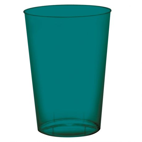 Gobelets En Plastique Rigide De Couleur Vert émeraude