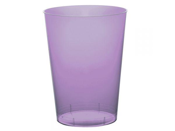 gobelets en plastique rigide de couleur lilas
