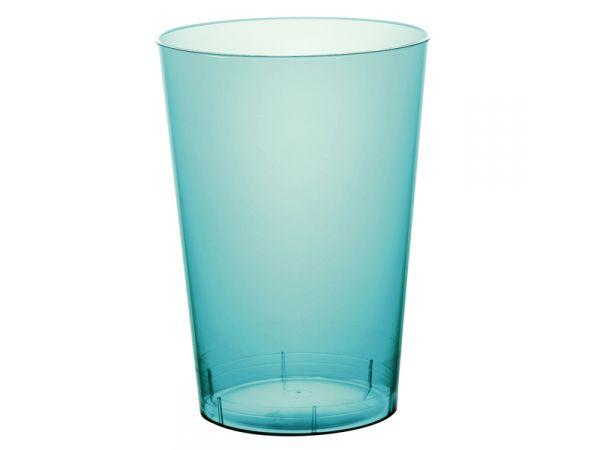 gobelets en plastique rigide de couleur turquoise