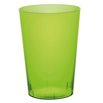 10 Gobelet PS vert anis 20cl