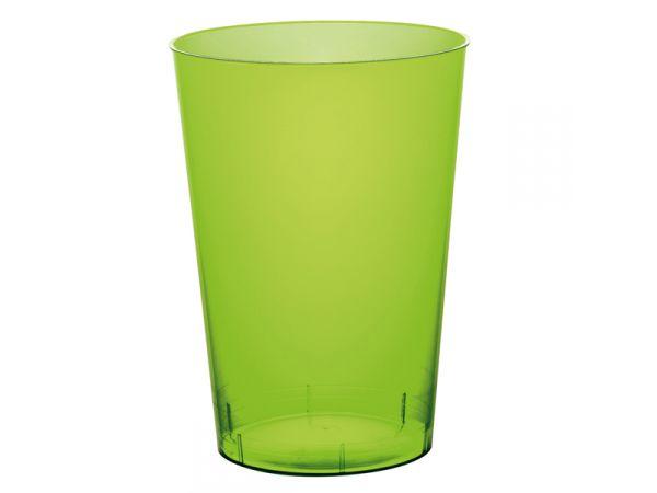 gobelets en plastique rigide de couleur vert anis
