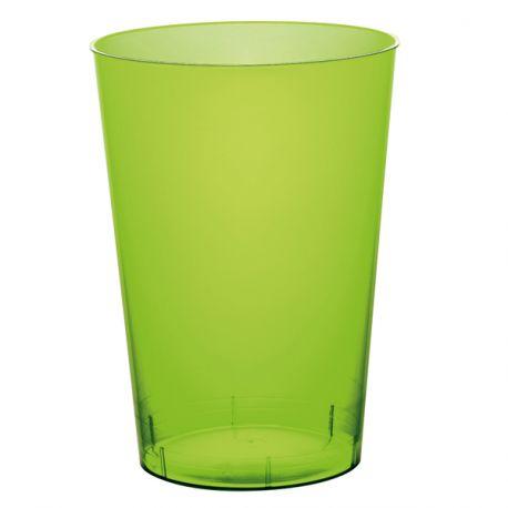 10 gobelets en plastique rigide de couleur vert anis Contenance 20cl