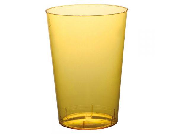 gobelets en plastique rigide de couleur jaune