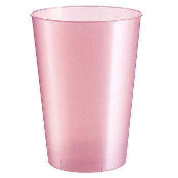 10 Gobelet PS rose perlé 20cl