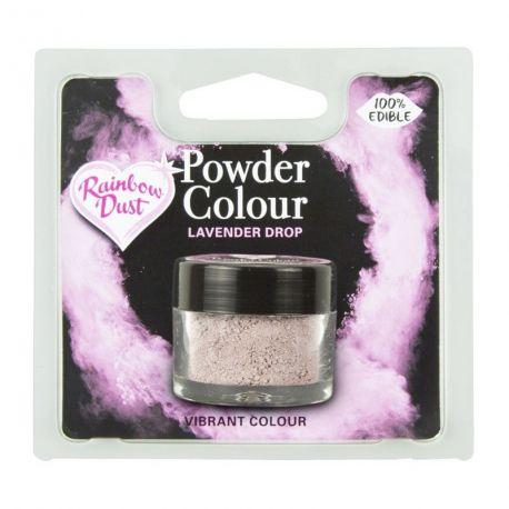 Colorant alimentaire 100% comestibles en poudre lavande de la marque Rainbow dustLe colorant en poudre sert à peindre sur tous vos...