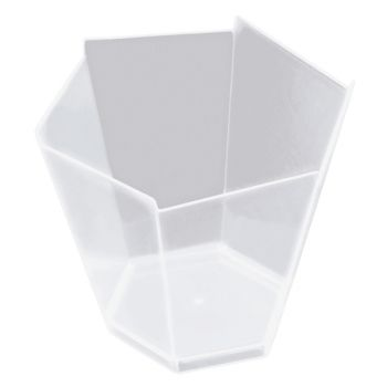 25 verrine hexagonale transparente