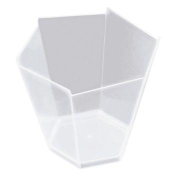 25 verrines hexagonale transparente