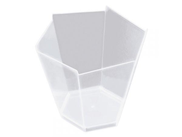 25 verrine hexagonale transparente