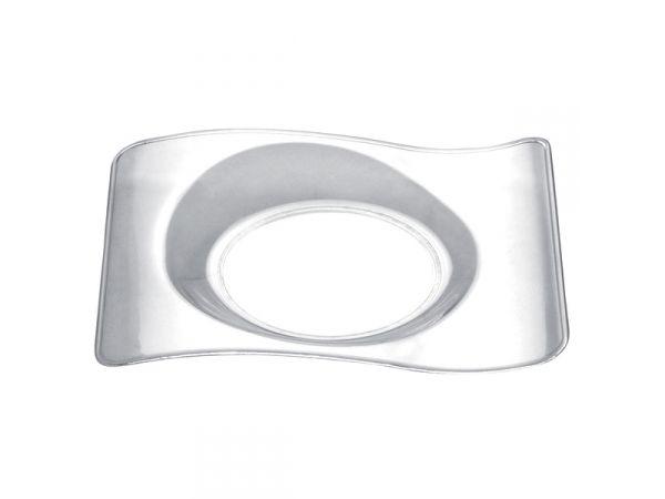 50 mini assiettes design transparente