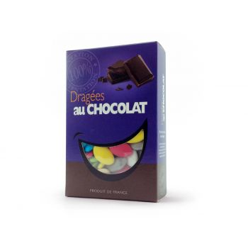 Dragées chocolat brillant multicolore 500gr