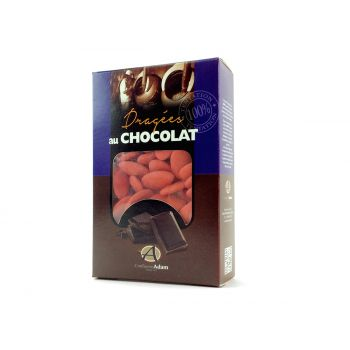 Dragées chocolat brillant coquelicot 500gr