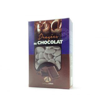 Dragées chocolat brillant gris lune 500gr