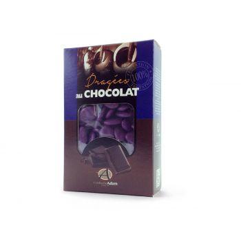 Dragées chocolat brillant violette 500gr