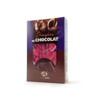 Dragées chocolat brillant framboise 500gr