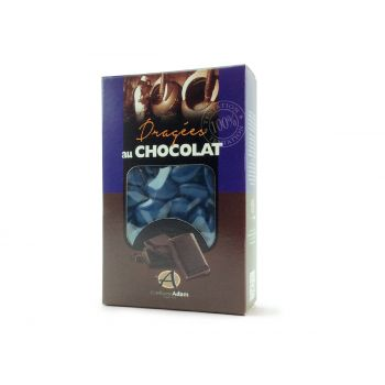 Dragées chocolat brillant bleu marine 500gr