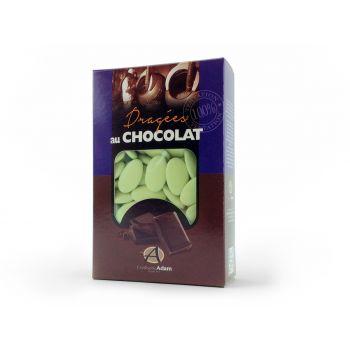 Dragées chocolat brillant vert d'eau 500gr