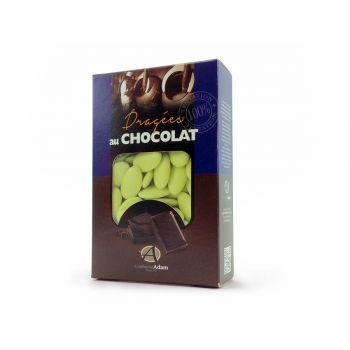 Dragées chocolat brillant vert lime 500gr