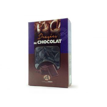 Dragées chocolat brillant noir 500gr