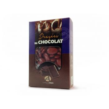 Dragées chocolat brillant bordeaux 500gr