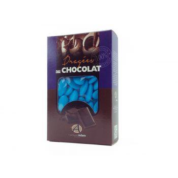 Dragées chocolat brillant turquoise 500gr