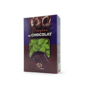 Dragées chocolat brillant vert anis 500gr