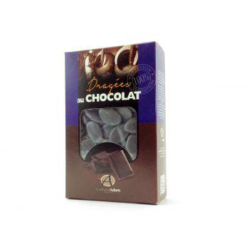 Dragées chocolat brillant gris 500gr