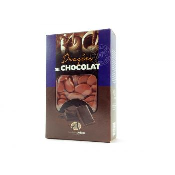 Dragées chocolat brillant feuille morte 500gr