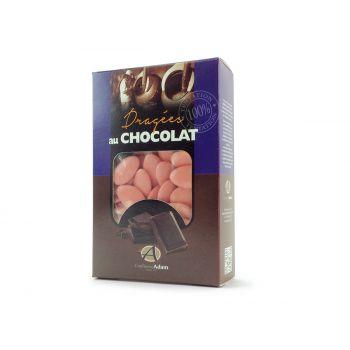 Dragées chocolat brillant corail 500gr