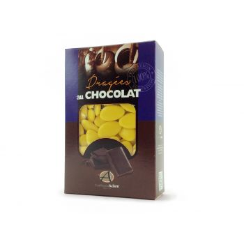 Dragées chocolat brillant bouton d'or 500gr