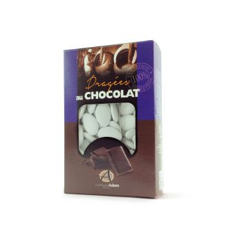 Dragées chocolat pastel mat blanc 500gr
