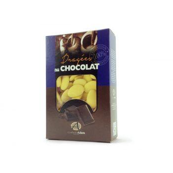 Dragées chocolat pastel mat jaune 500gr