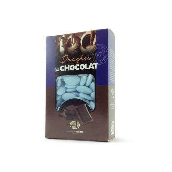 Dragées chocolat pastel mat bleu 500gr
