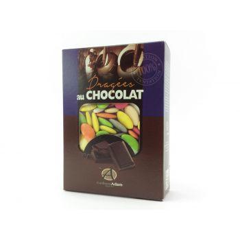 Dragées chocolat brillant multicolore 1Kg