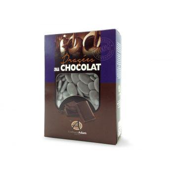 Dragées chocolat brillant gris lune 1Kg