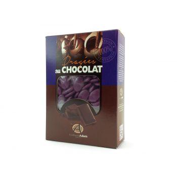 Dragées chocolat brillant violette 1Kg