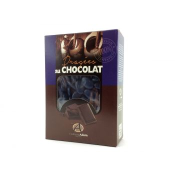 Dragées chocolat brillant bleu marine 1Kg