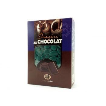 Dragées chocolat brillant vert empire 1Kg