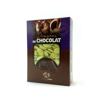 Dragées chocolat brillant vert lime 1Kg