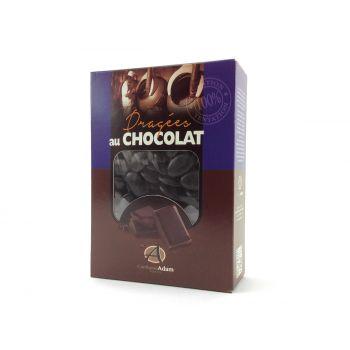 Dragées chocolat brillant noire 1Kg