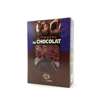 Dragées chocolat brillant bordeaux 1Kg
