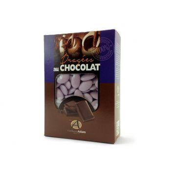 Dragées chocolat brillant lilas 1Kg