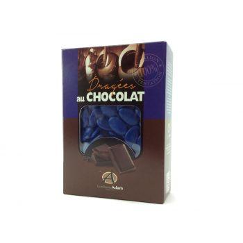 Dragées chocolat brillant bleu roy 1Kg