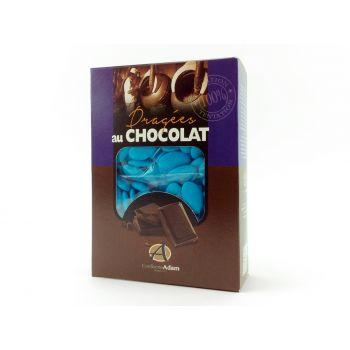Dragées chocolat brillant turquoise 1Kg